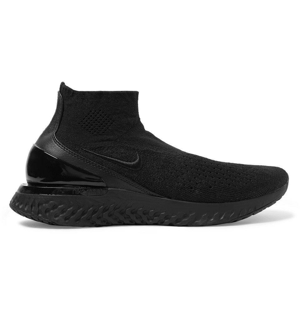 Nike Running - Rise React Flyknit Sneakers - Men - Black