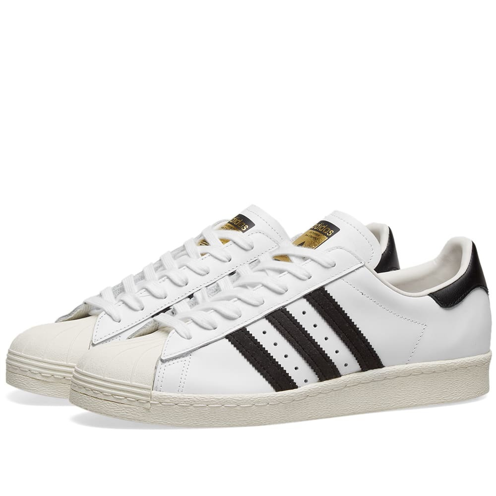 Photo: Adidas Superstar 80s White, Black & Chalk