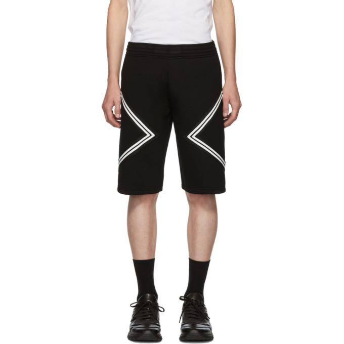 Photo: Neil Barrett Black and White Jersey Shorts
