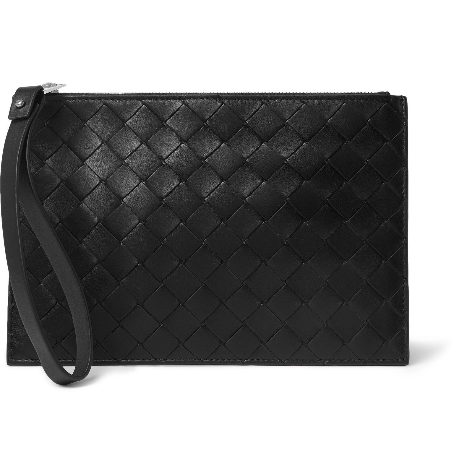 Photo: Bottega Veneta - Small Intrecciato Leather Pouch - Black