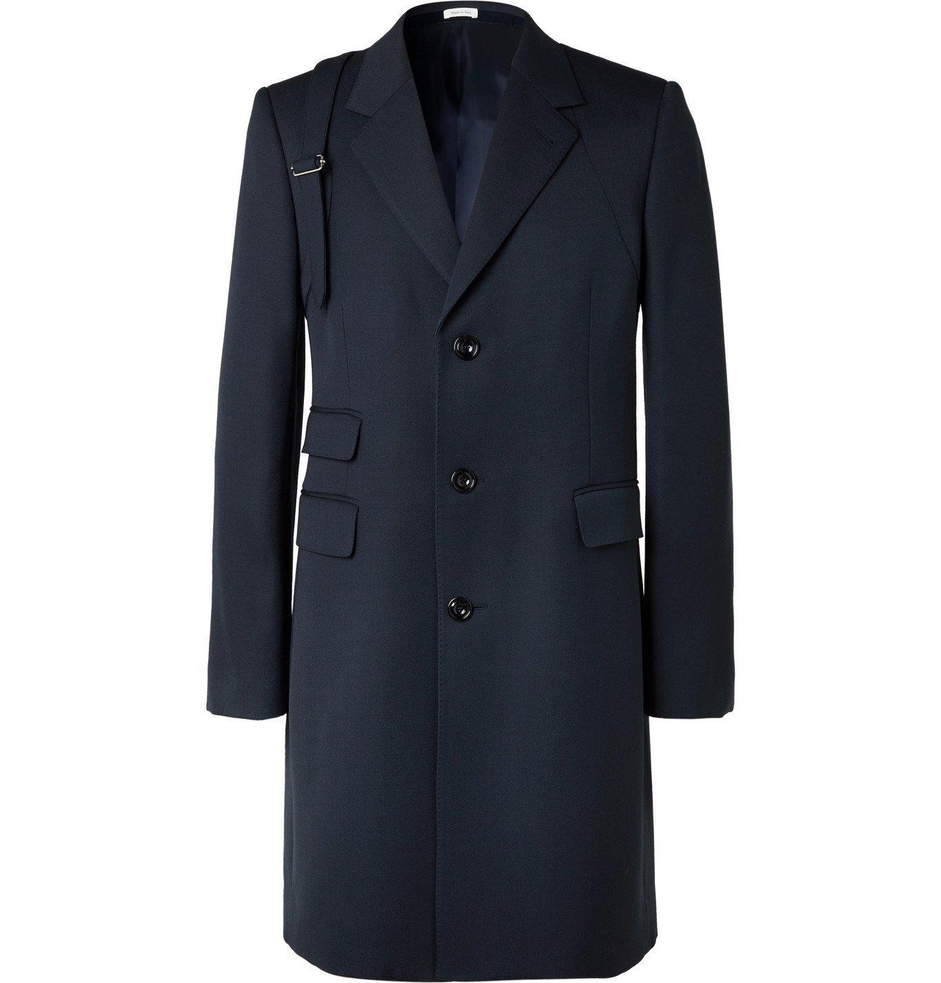 Photo: Alexander McQueen - Slim-Fit Wool Coat - Blue