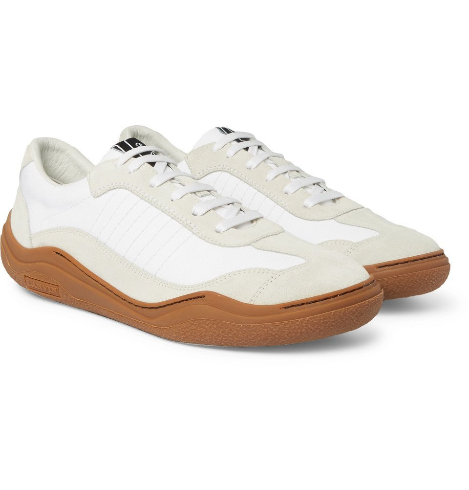 Lanvin - Suede and Canvas Sneakers