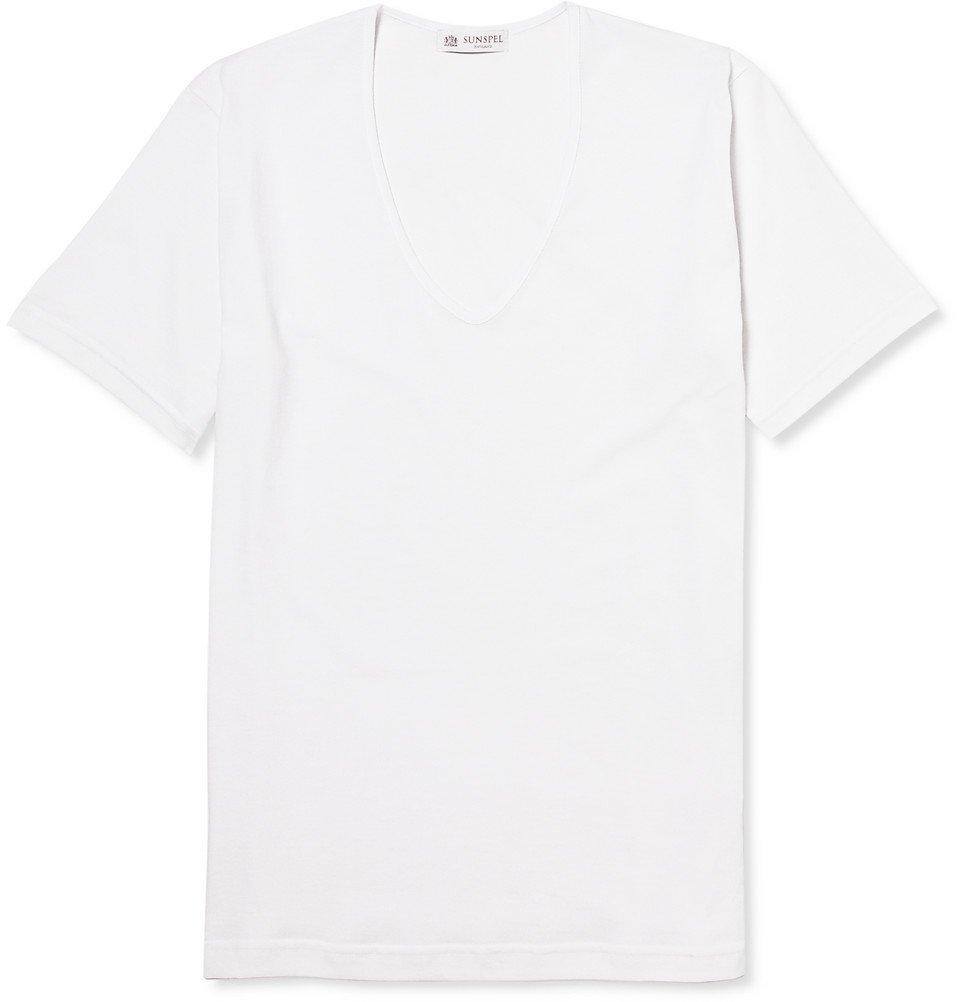 Sunspel - Superfine Cotton Underwear T-Shirt - Men - White
