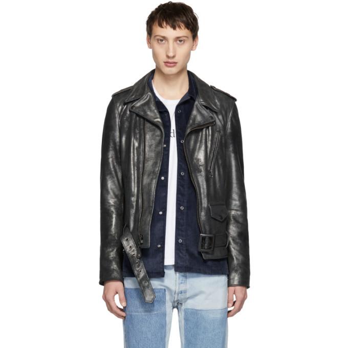 Photo: Schott Gunmetal Leather Rogue Jacket