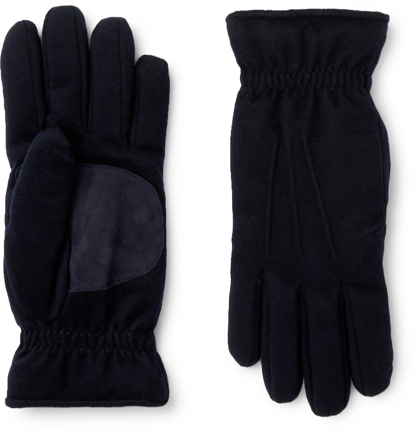 Photo: Loro Piana - Storm System Suede-Trimmed Padded Cashmere Gloves - Blue
