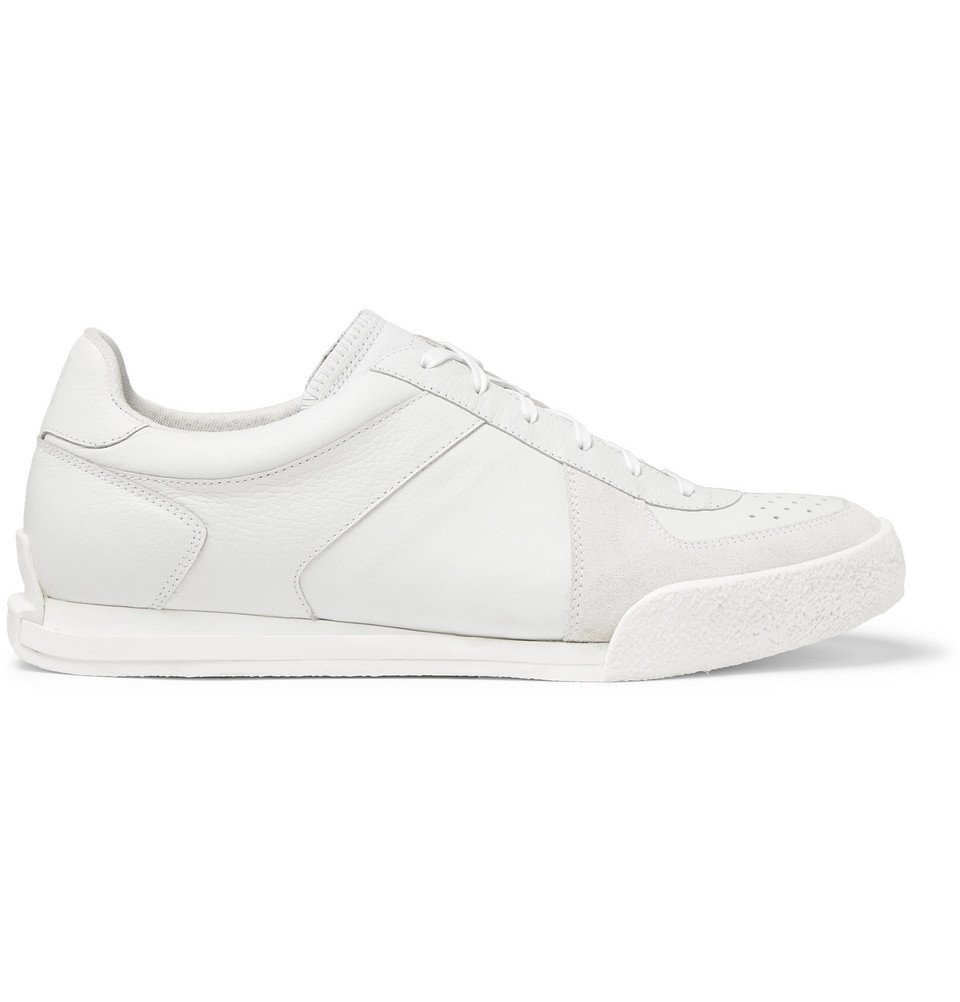 Photo: Givenchy - Set3 Full-Grain Leather and Suede Sneakers - White