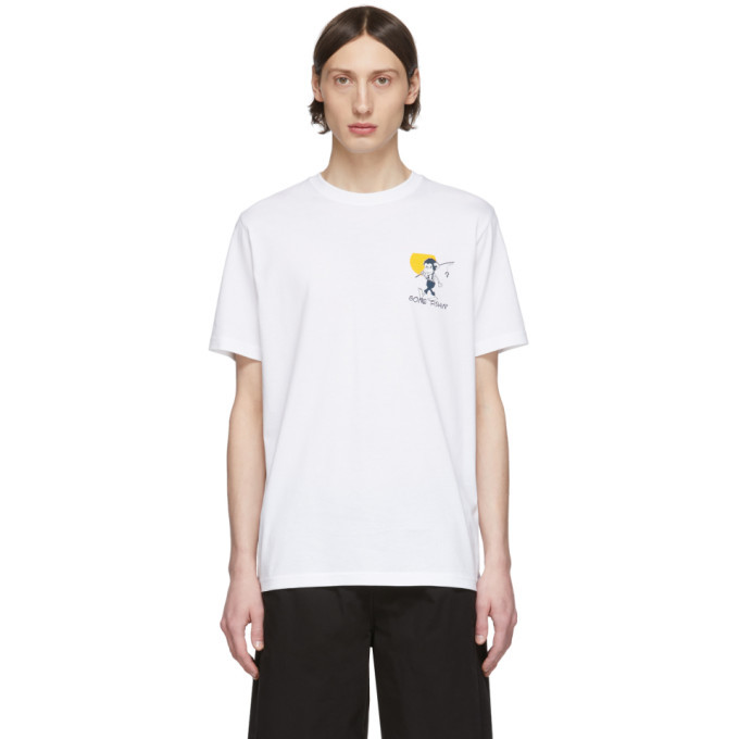 Photo: PS by Paul Smith White Gone Fishing T-Shirt