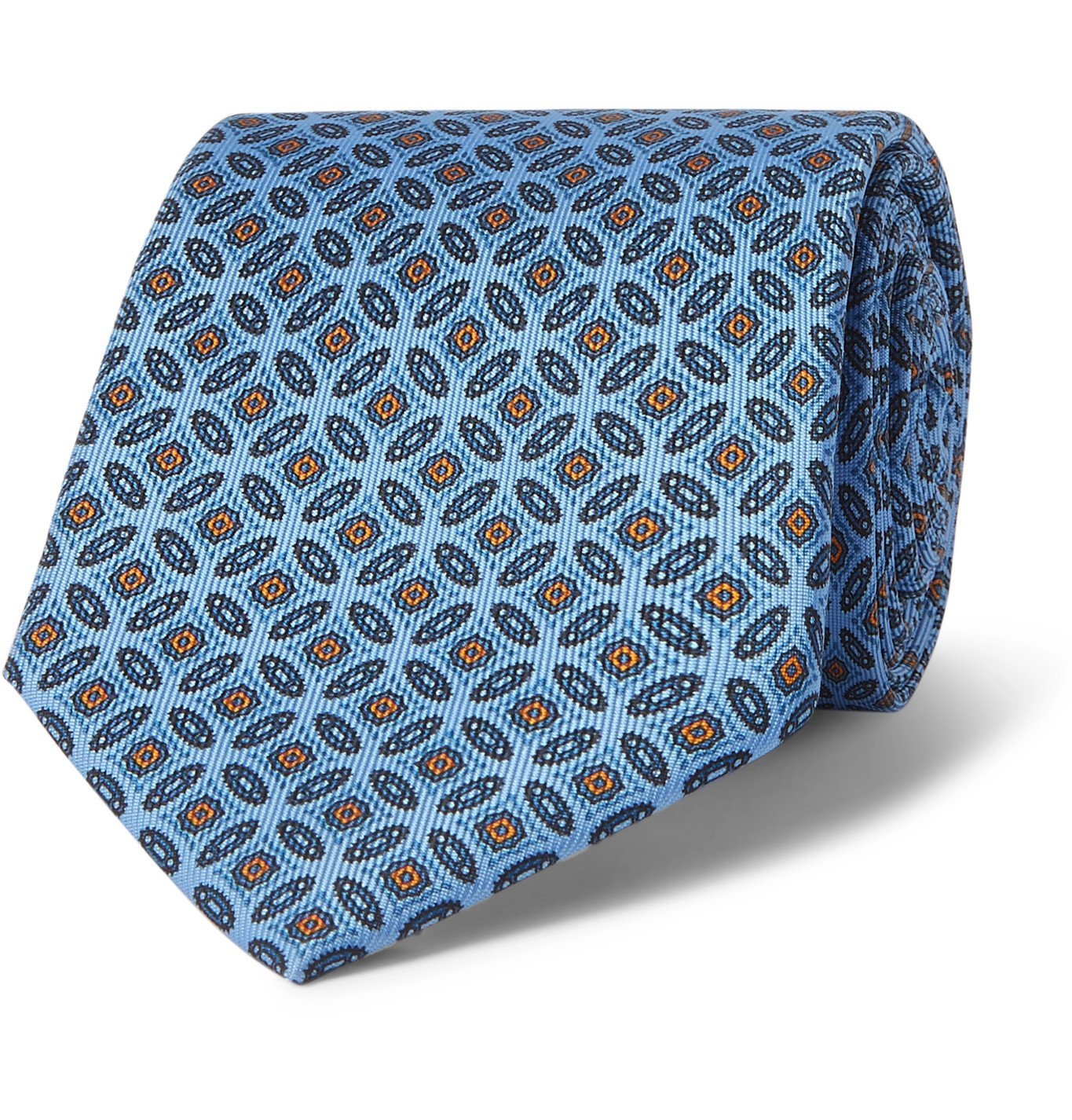 Photo: E.MARINELLA - 8cm Silk-Jacquard Tie - Blue