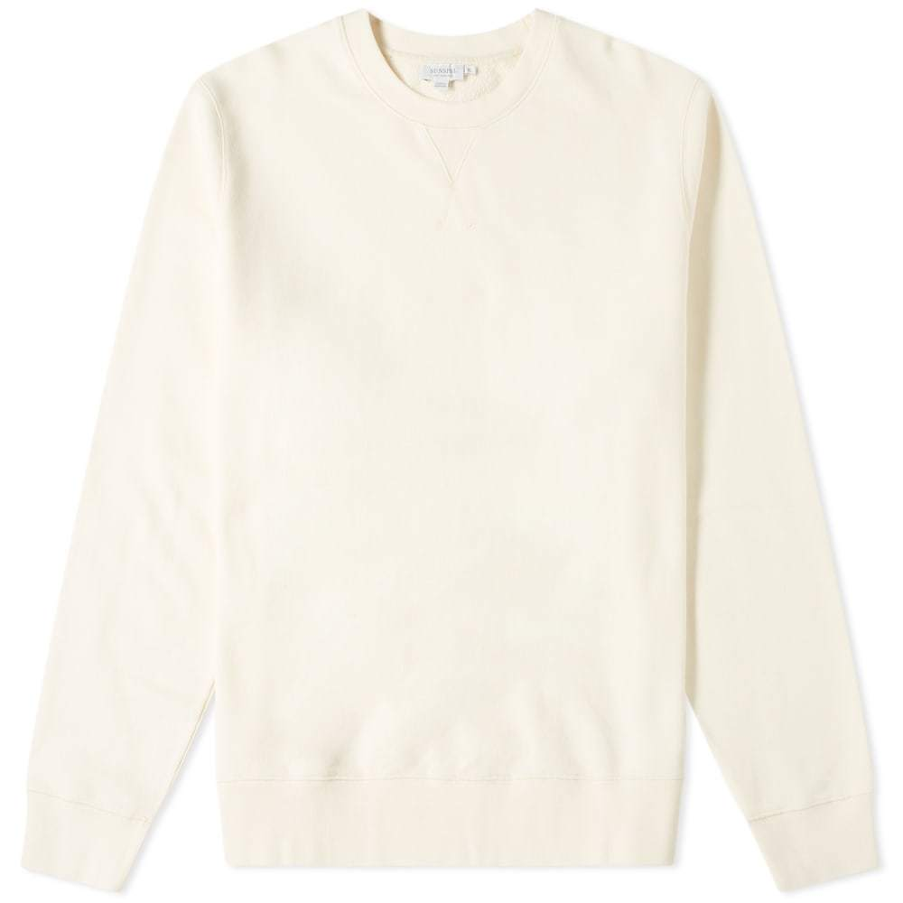 Sunspel Loopback Sweat Top Archive White