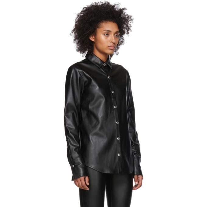 alexanderwang.t Black Faux-Leather Snap Shirt