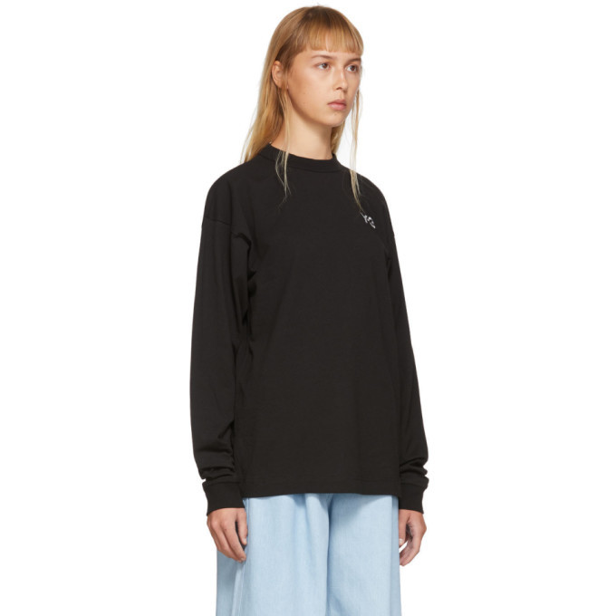 Y-3 Black Skate Graphic Long Sleeve T-Shirt