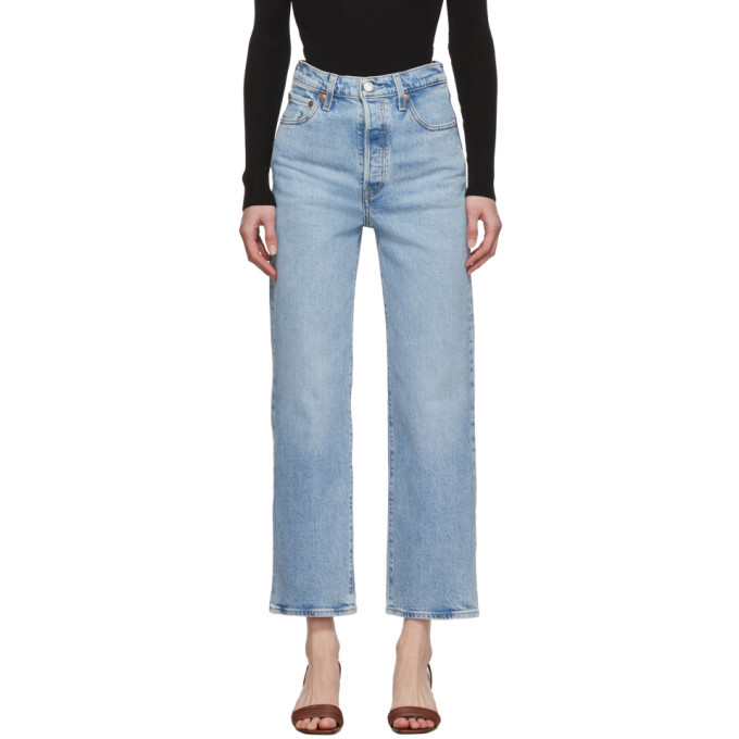 Photo: Levis Blue Ribcage Straight Ankle Jeans