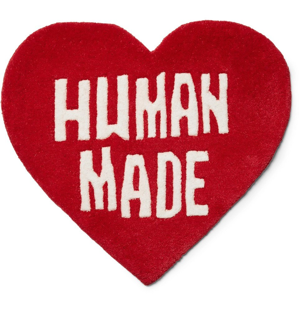 Photo: Human Made - Logo-Detailed Wool and Cotton-Blend Rug - Red
