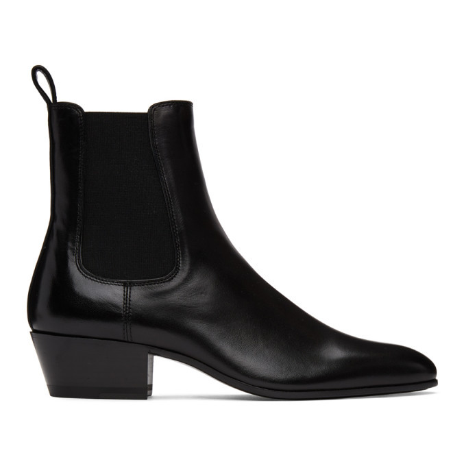 Photo: Saint Laurent Black Cole Chelsea Boots