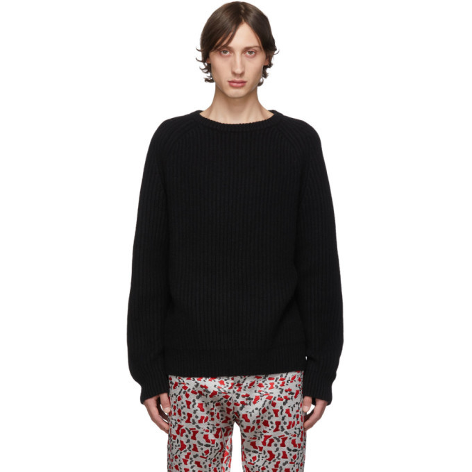 Photo: Haider Ackermann Black Ribbed Sweater