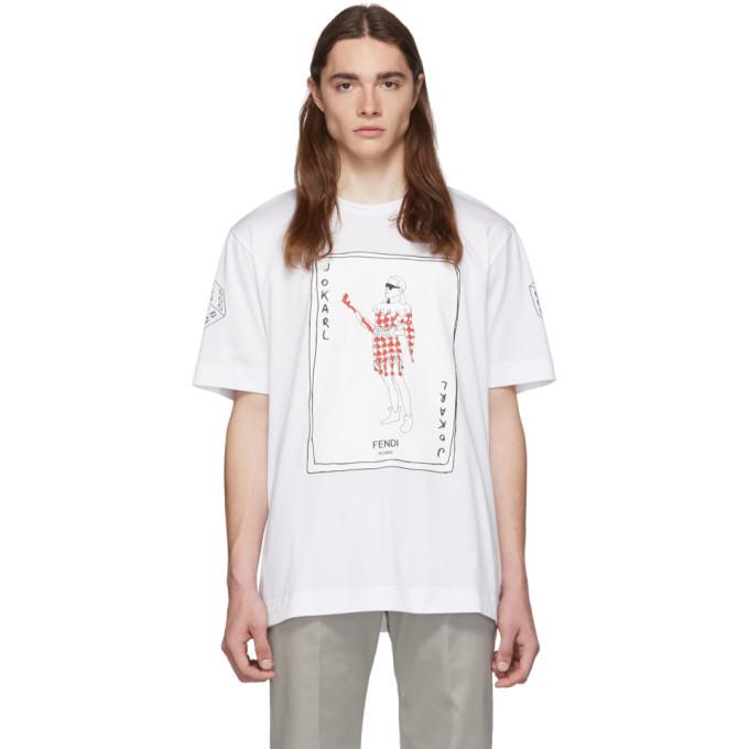 Photo: Fendi White JoKarl T-Shirt