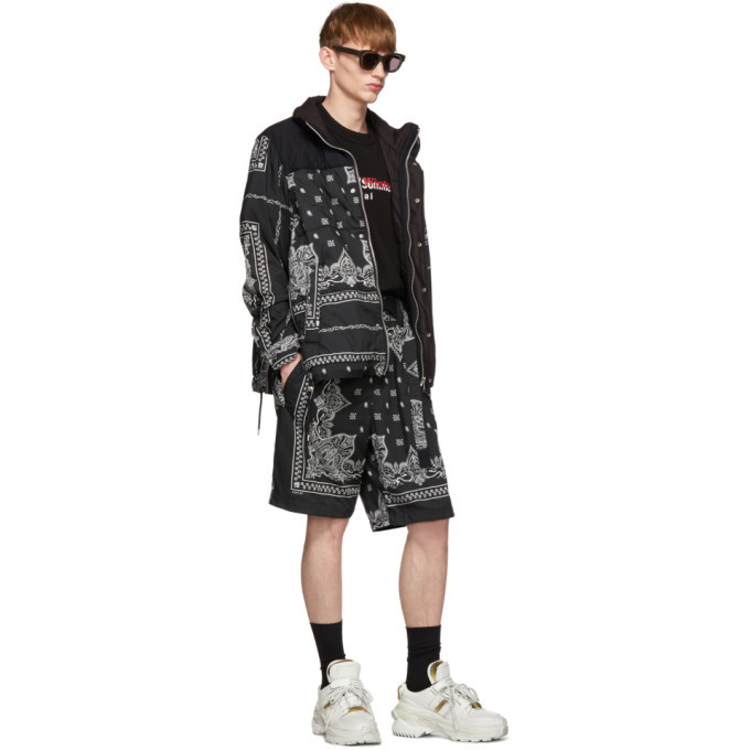 Sacai Black Bandana Print Jacket