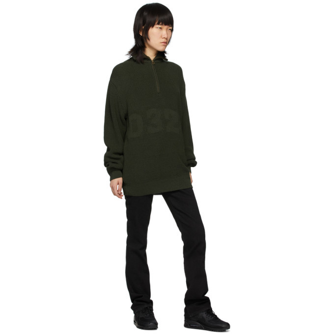 032c Green Troyer Half-Zip Sweater