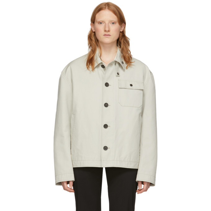 Photo: Acne Studios Beige Canvas Ognite Jacket