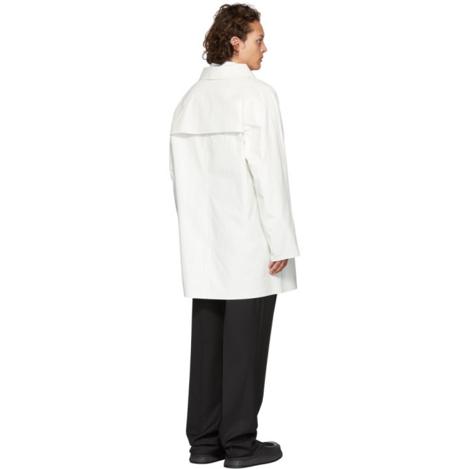 Kassl Editions White Oil Above The Knee Coat