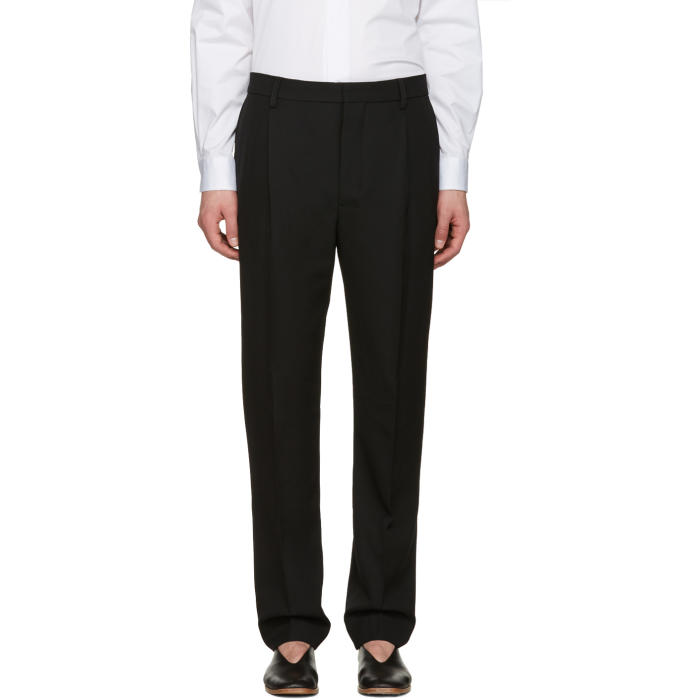 Lemaire Black Pleated Trousers