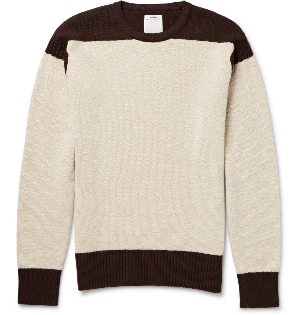 Photo: visvim - Isles Two-Tone Wool and Cashmere-Blend Sweater - Cream