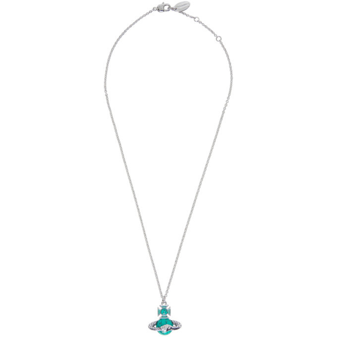 Photo: Vivienne Westwood Silver and Green Ouroboros Orb Necklace
