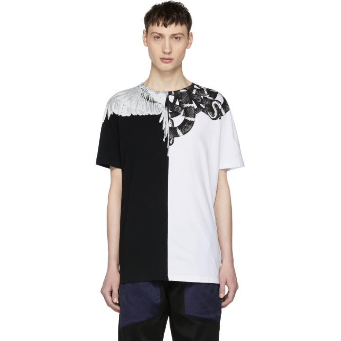 Photo: Marcelo Burlon County of Milan Black and White Snake Wing T-Shirt