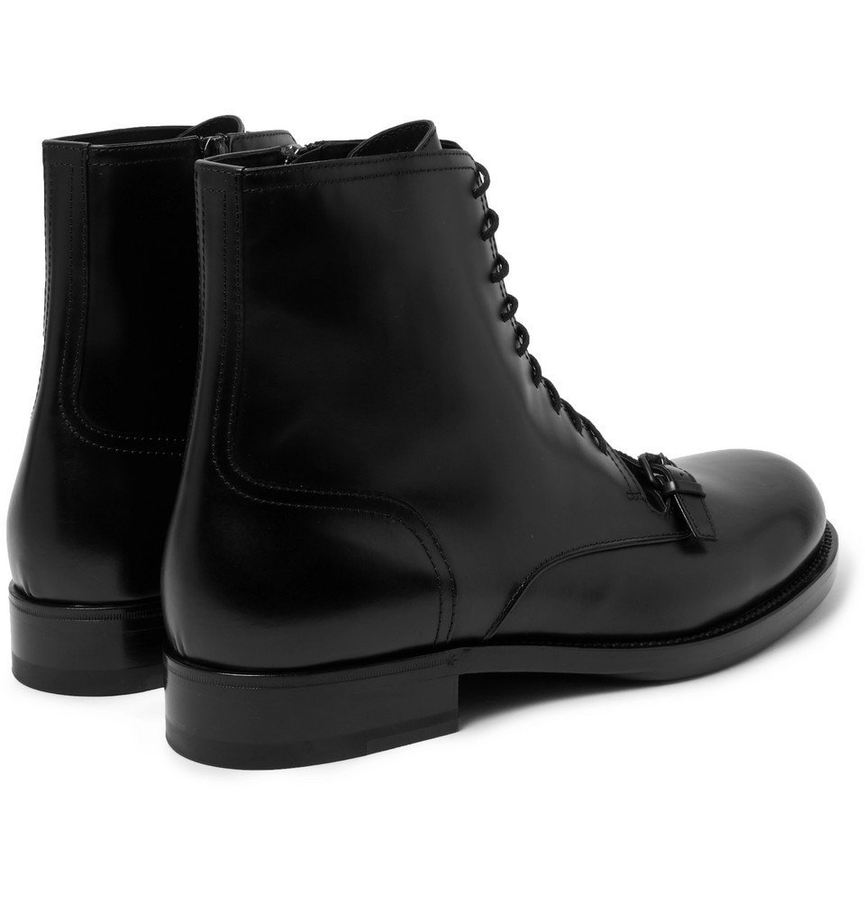 Bottega Veneta - Polished-Leather Boots - Men - Black