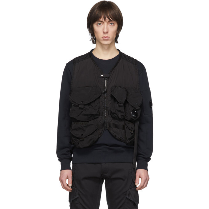 Photo: C.P. Company Black 50 Fili Zip Up Vest