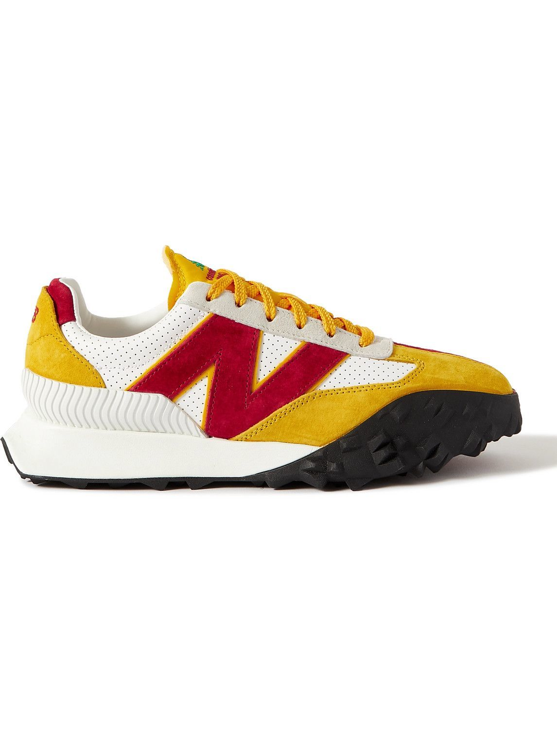 Photo: New Balance - Casablanca XC72 Suede-Trimmed Leather Sneakers - Yellow