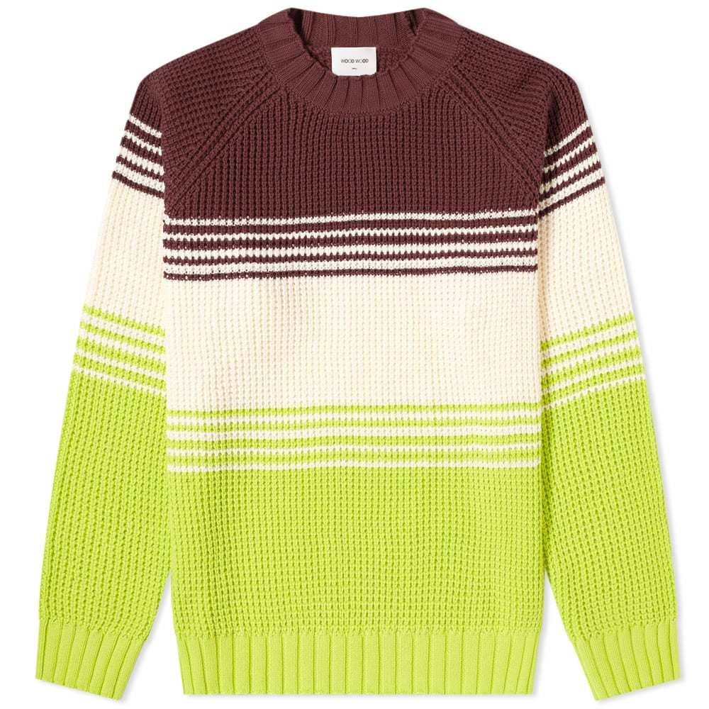 Wood Wood Gunther Stripe Crew Knit