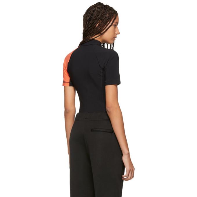 alexanderwang.t Black and Orange Swim Bodysuit