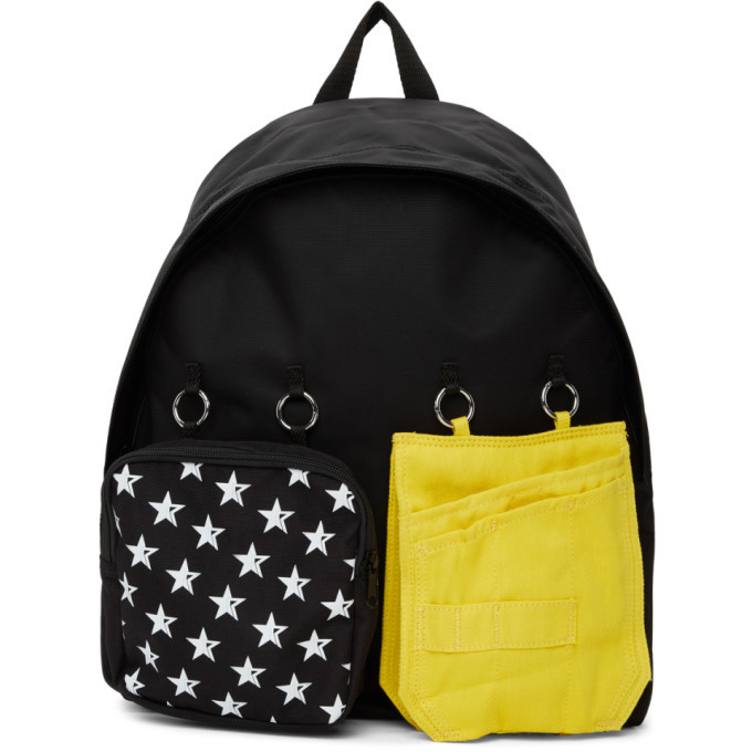 Raf Simons SSENSE Exclusive Black and Yellow Eastpak Edition Star Backpack