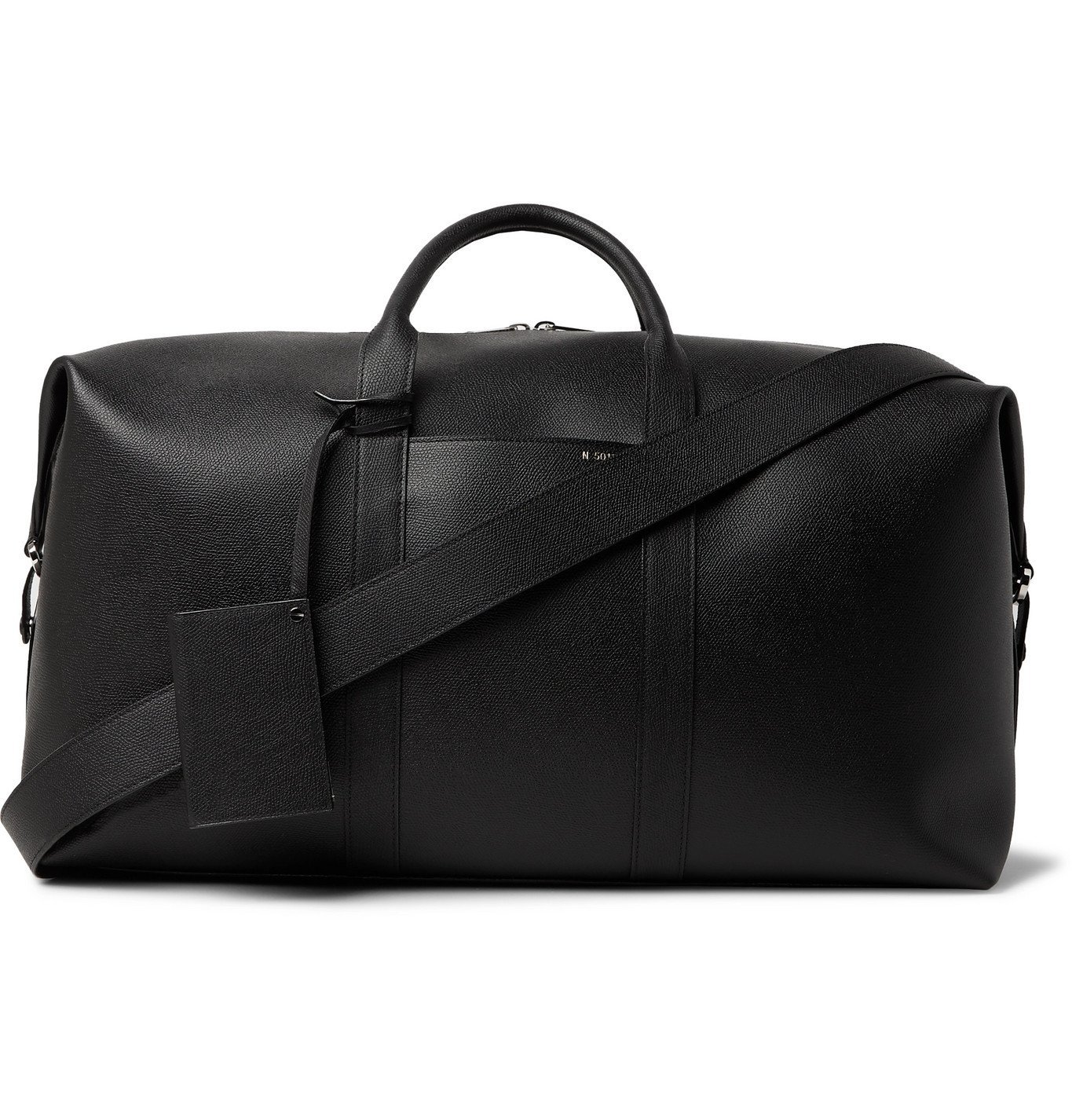 Photo: Valextra - Textured-Leather Holdall - Black