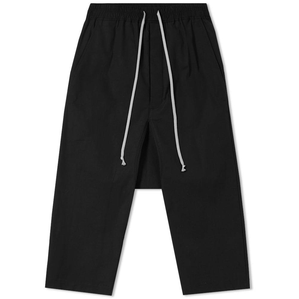 Photo: Rick Owens Drawstring Cropped Trouser Black