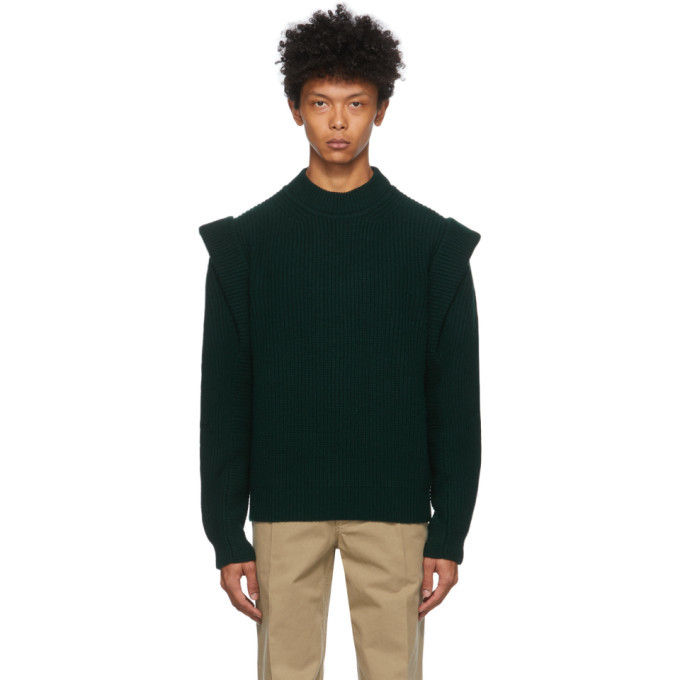 Photo: Isabel Marant Green Cashmere and Wool Pavel Sweater