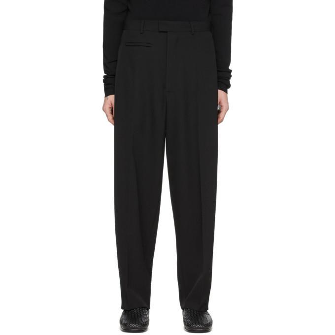 Photo: Bottega Veneta Black Wool Gabardine Trousers
