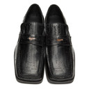 Martine Rose Black Embossed Roxy Loafers