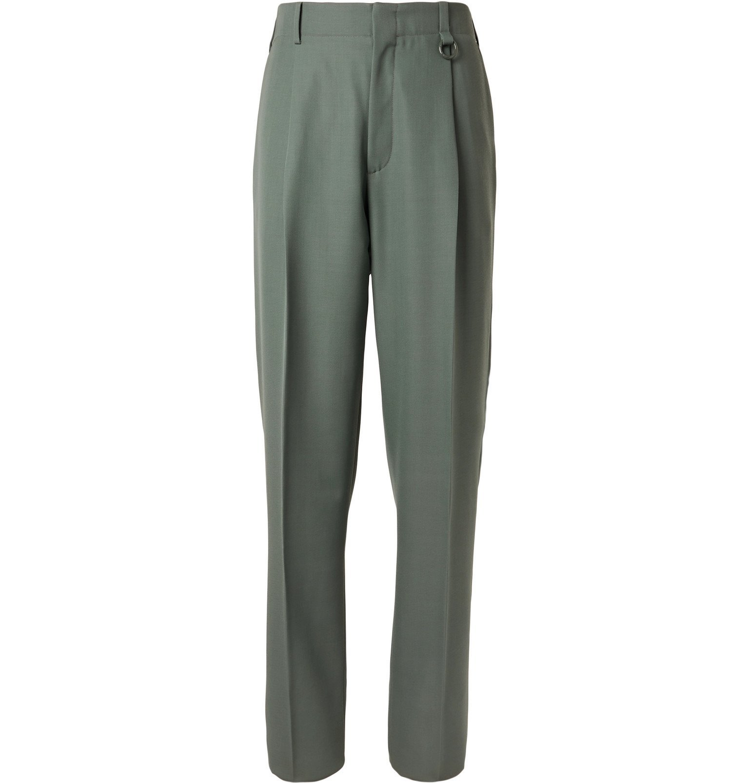 Photo: Stella McCartney - Pleated Wool Suit Trousers - Blue