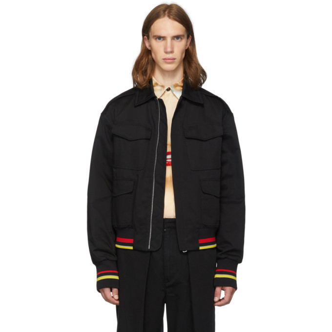 Photo: JW Anderson Black Quilted Bomber Jacket