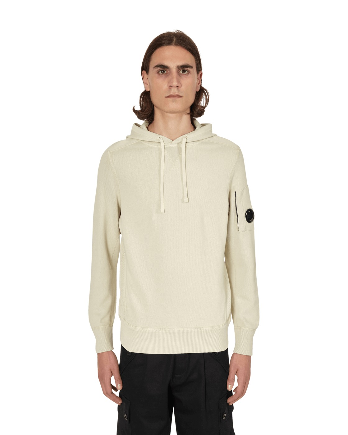 Photo: C.P. Company Hooded Sweatshirt Oyster Grey