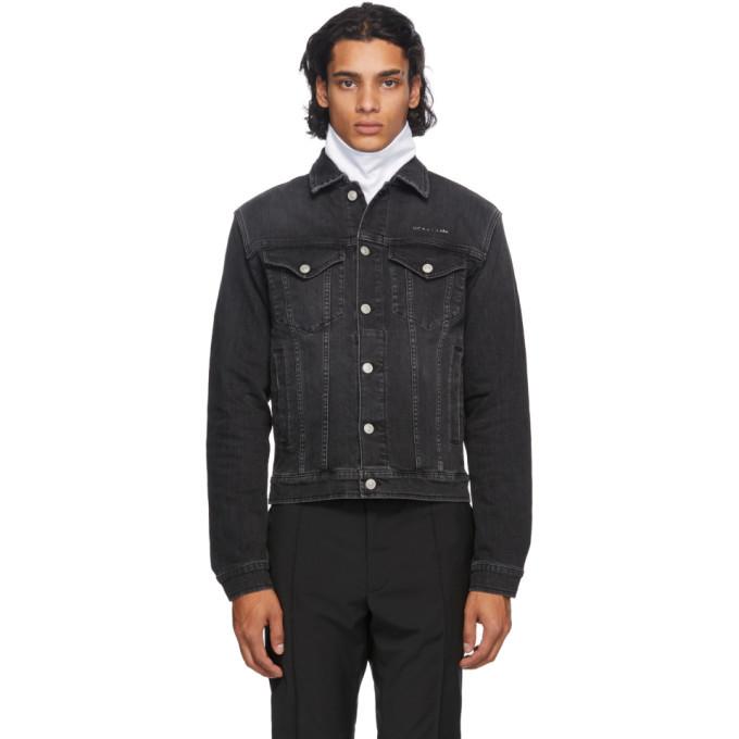 1017 ALYX 9SM Black Denim Collection Stitching Jacket