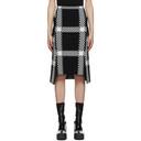Stella McCartney Black and White Knit Check Skirt