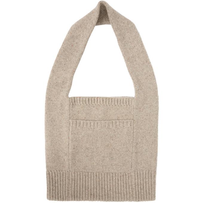 Photo: Joseph Beige Tweed Knit Tote Bag