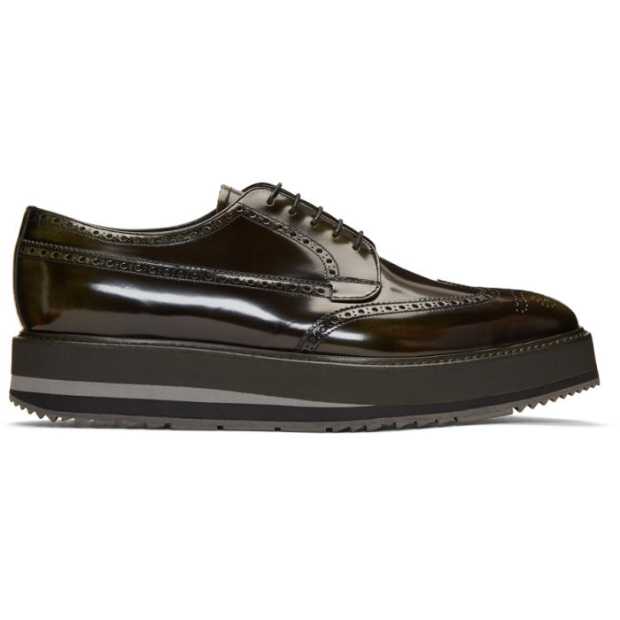 Photo: Prada Green Creeper Brogues