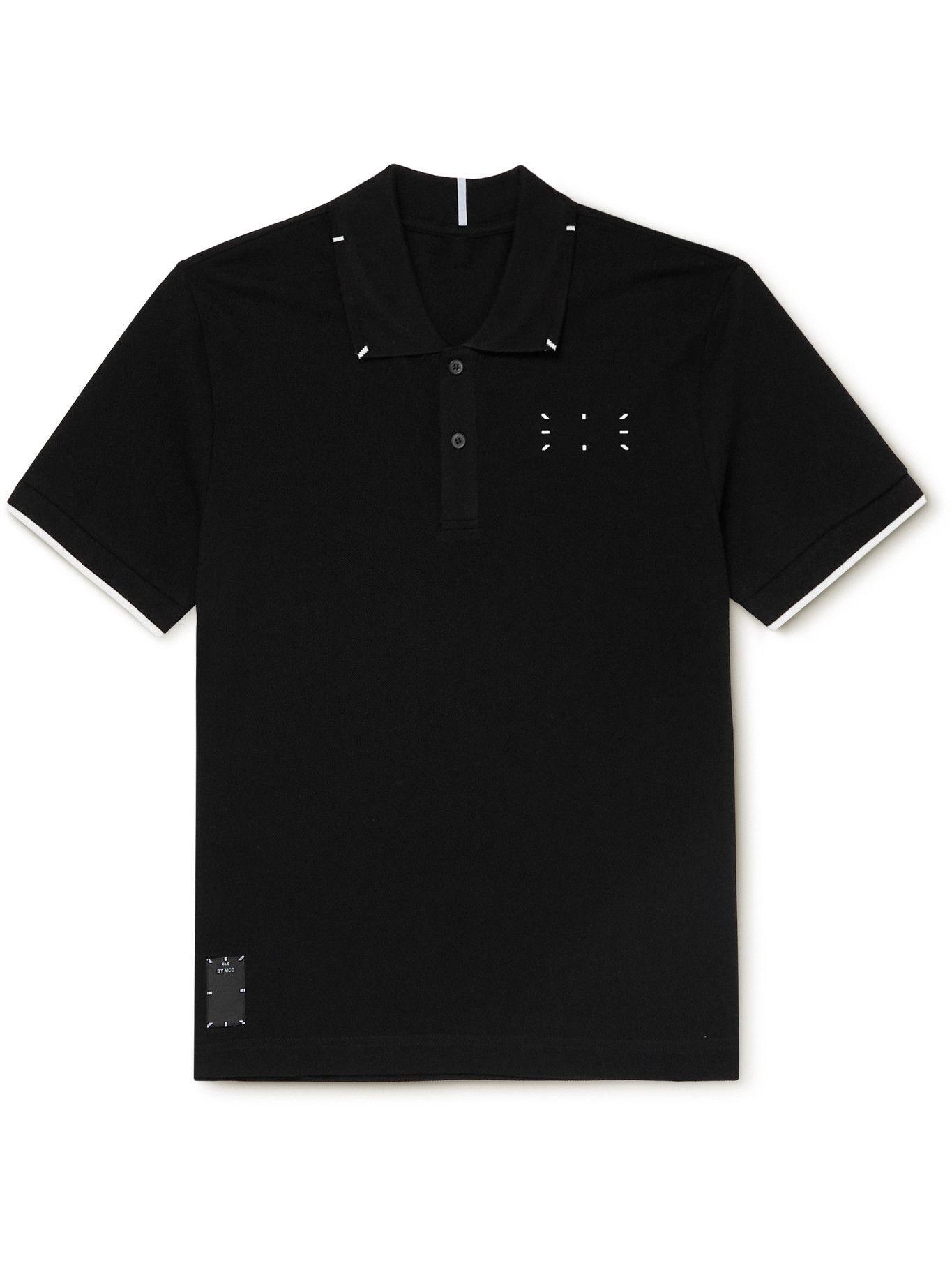 Photo: MCQ - Logo-Appliquéd Cotton-Piqué Polo Shirt - Black