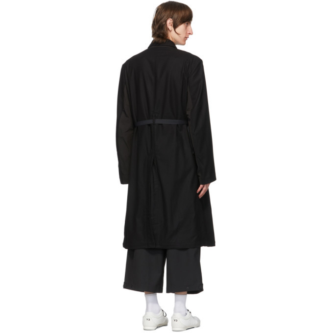 Y-3 Black Wool CH1 Coat