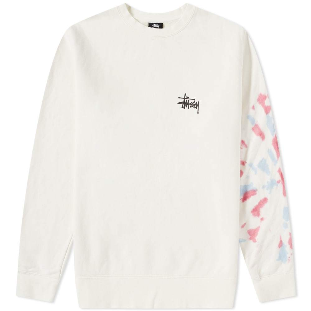 Photo: Stussy Basic Tie Dye Crew Sweat Neutrals