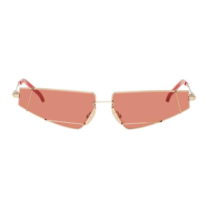 Photo: Fendi Gold and Red FF M0054 Sunglasses